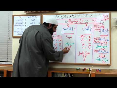 Lessons on Tajweed - Session 3 - Rules of Noon Sakin and Tanween - by Shaykh Hosaam