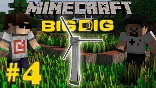 Minecraft: Big Dig #4 - RÜZGAR TÜRBİNİ YAPTIK!