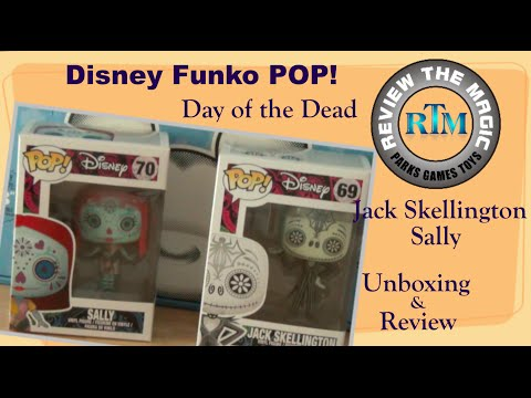 Day of the Dead Jack Skellington and Sally Disney Funko POP! UNBOXING and REVIEW