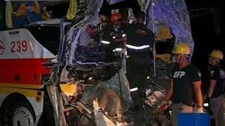 Saksi Salpukan Ng Bus At Truck Sa Nlex Inaalam Pa Kung Kaninong Pagkakamali