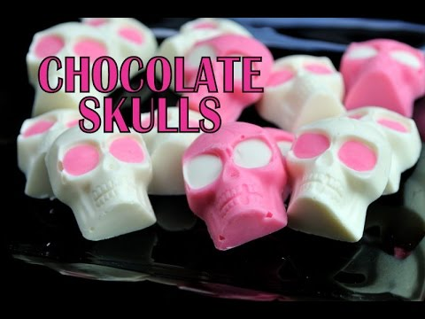 HOW TO MAKE CHOCOLATE SKULLS FOR HALLOWEEN - halloweeni csoki koponya
