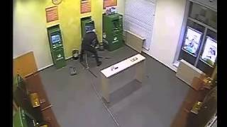 Кража Банкомата в Сбербанке Stealing an ATM at Sberbank Russia