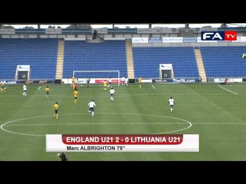 U21 England vs Lithuania Highlights 3-0 - Welbeck 2, Albrighton
