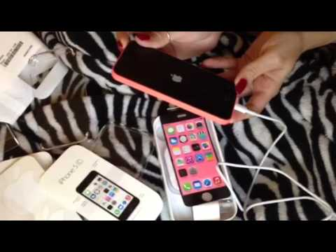 iPhone 5c Unboxing. review. and set up guide.