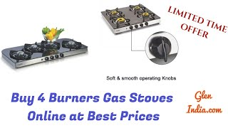 Buy 4 Burners Gas Stoves Online at Best Prices !!! Don't Miss It 👇👇