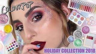 Colourpop Holiday Collection 2018: Swatches & Demo!