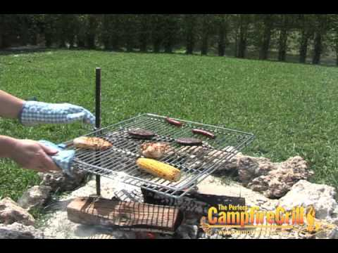 NEW Original Grill | Perfect Camp Fire Cooking Grill for ...