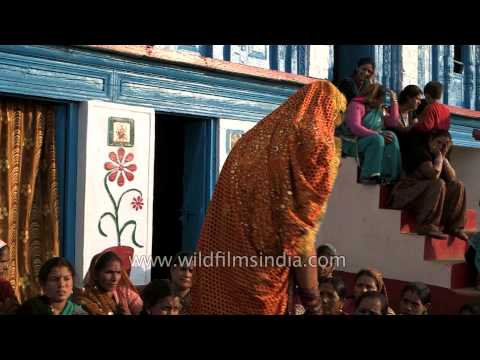 Kumaoni woman dancing on Hansta hua noorani chehra in her own...