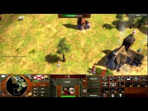 Age Of Empires III Partida 2vs2(PC) Parte 1