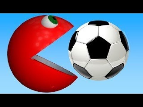 Learning Colors With A Lot of 3D Soccer Balls Spiral For Kids #z Children Toddlers and Bab