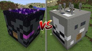 Minecraft SKELETON HOUSE VS ENDERMAN HOUSE MOD / BEST BUILD HOUSE BATTLE !! Minecraft