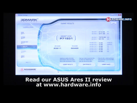 ASUS Ares II Crossfire demo and 3DMark Vantage run