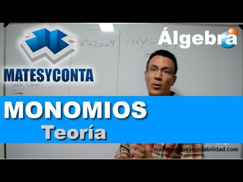 Monomios y operaciones con monomios: suma, resta, producto, división y potencia, by Matesyconta