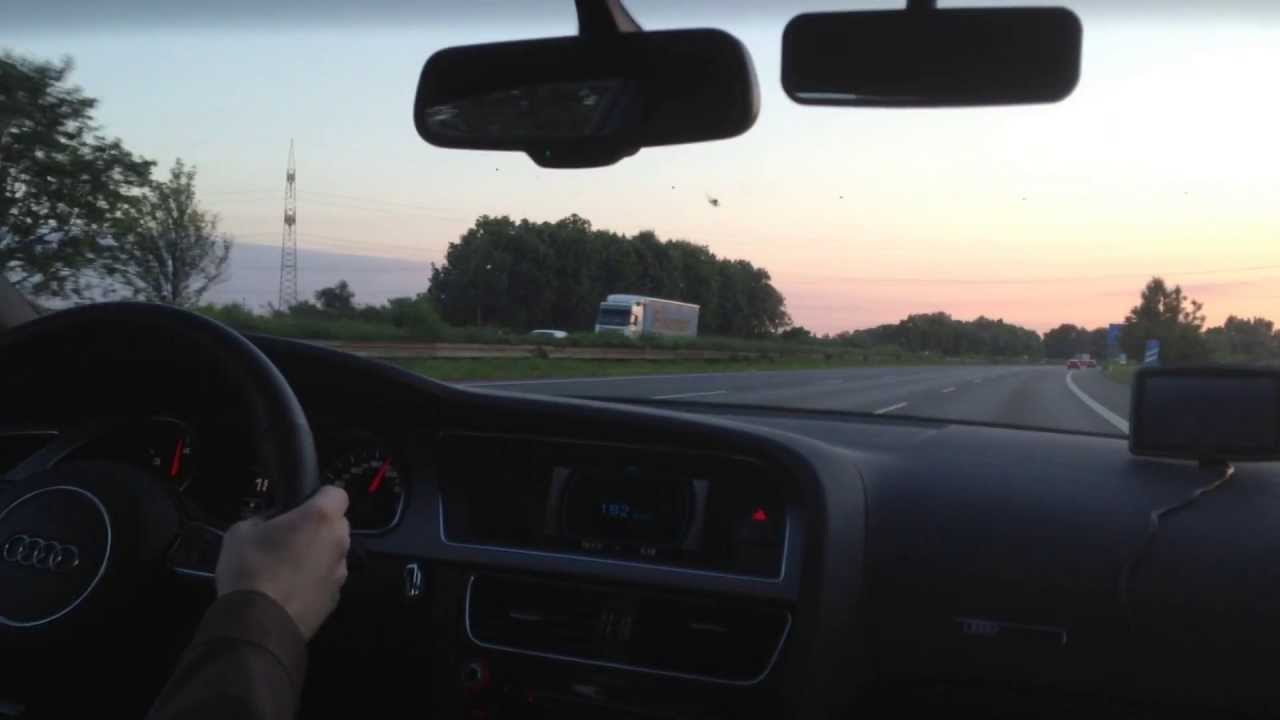 audi a5 sportback 2 0 tdi driving fast on german autobahn dortmund beckum a2 part 1 2. Black Bedroom Furniture Sets. Home Design Ideas