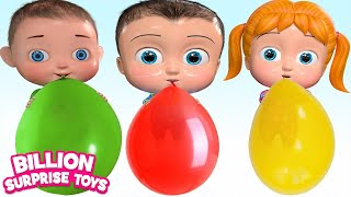 Balloon Family Song | Babies Colorful Balloons | Nursery Rhymes & Kids Songs