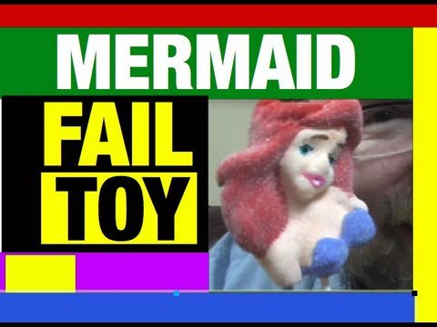 Little Mermaid Ariel Lollipop FUNNY Video, Fail Toys, Mike Mozart of JeepersMedia