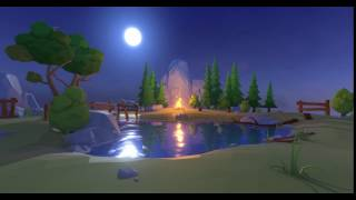 Lowpoly Water Shaders for Unity - Night Loop