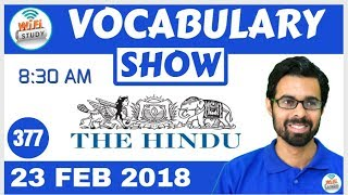 8:30 AM -Daily The Hindu Vocabulary with Tricks (23rd Feb, 2018) | Day- 377