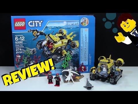 "LEGO ""DEEP SEA SUBMARINE"" UNDERWATER LEGO REVIEW! SET # 60092"