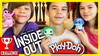 INSIDE OUT PLAY DOH CHALLENGE!  |  KITTIESMAMA