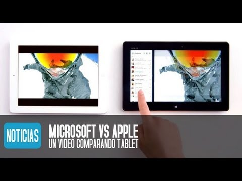 iPad vs Tablet Windows 8 según Microsoft