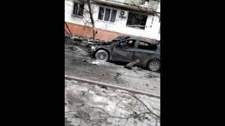 Мариуполь Восточный после обстрела из градов со стороны Новоазовска 24.01.2015