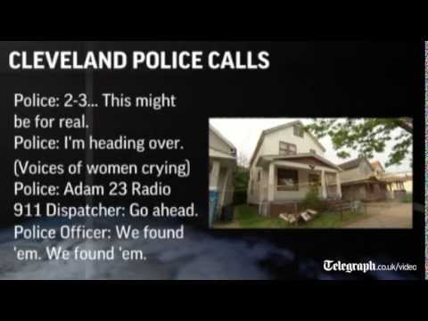 Police audio of the moment Cleveland kidnap victims are found