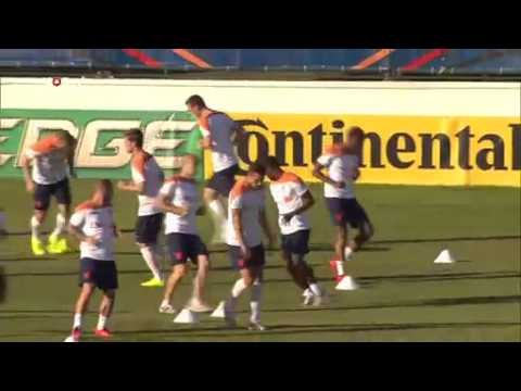 Tom Egbers over training Oranje | WK Voetbal 2014