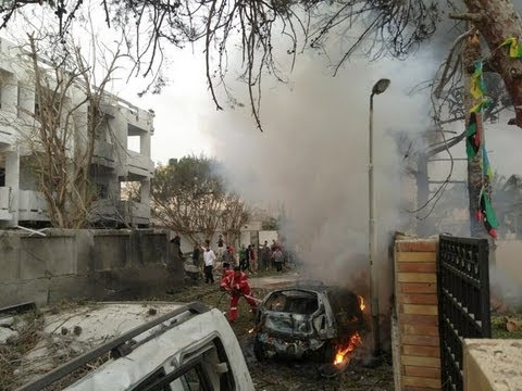Libya car BOMB ATTACKED French embassy in Tripoli...2 guards INJURED