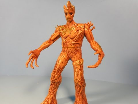 GUARDIANS OF THE GALAXY RAPID REVEALERS GROOT BRANCH SMASH MOVIE TOY VIDEO REVIEW