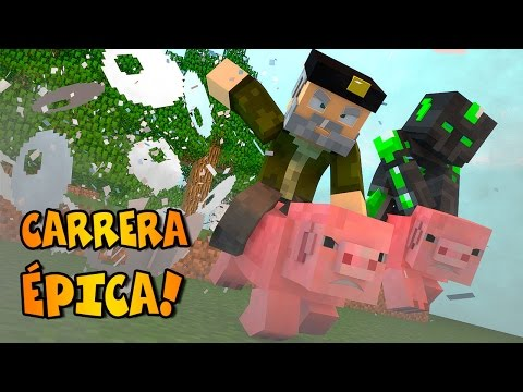 CHANCHOS Y EXPLOSIONES!! Carrera Épica | Minecraft Race Map