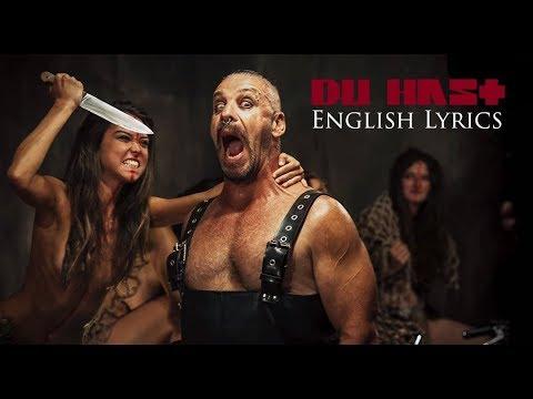 "RAMMSTEIN ""Du Hast"" English Lyrics HD"