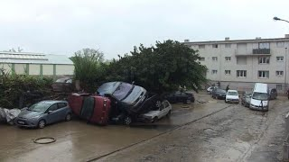 Residents of flooded French village take stock of damage