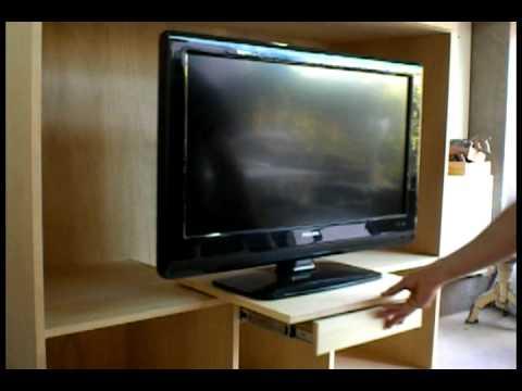 Rack para lcd y audio youtube - Como hacer un mueble para tv ...