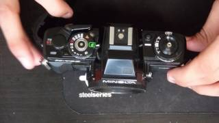 how to replace film rewind knob on a standard 35mm film camera | minolta x700