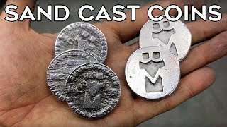 How to Make  Custom Coins - Aluminium Sand Casting || Quick Cuts