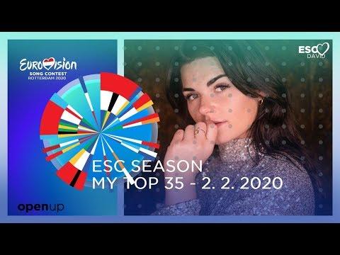 EUROVISION SEASON 2020: MY TOP 35 (so far) +