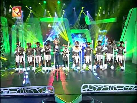 African Tribal Dance Amrita tv let's dance 2 winner madhu footlights