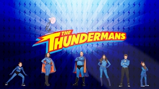 527-The Thundermans American Superhero Live Action Comedy TV Series Spoof Pixar Lamp Luxo Jr Logo