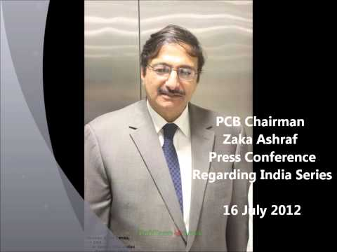 PCB Chairman Zaka Ashraf Press Conference: Pakistan-India Series December 2012, 16 July 2012