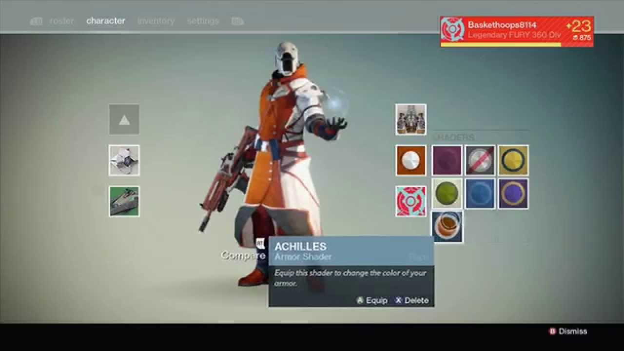 Destiny how to get new shaders destiny how to change armor color