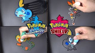 pokemon sword shield 8th gen starters Pancake Art - Sobble, Scorbunny, Grookey