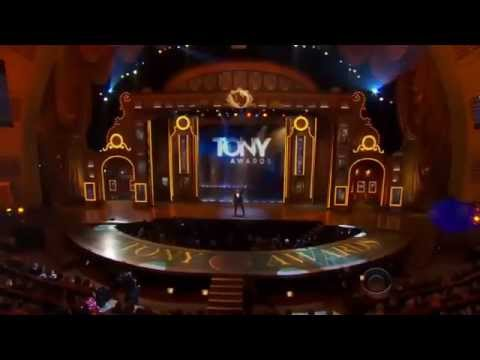 Hugh Jackman (TMer) hopping at Tony Awards Opening 2014