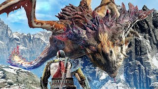 God of War 4: DRAGON FIGHT Boss Battle - 4K Gameplay PS4 Pro