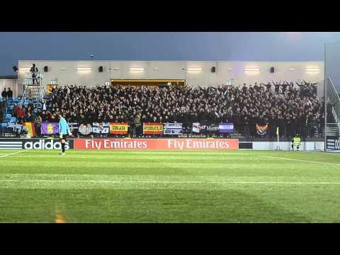 Ultras Sur en el Estadio Alfredo Di Stefano