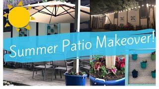 ☀️SUMMER PATIO MAKEOVER |PATIO IDEAS | PATIO MAKEOVER | PATIO DECORATING IDEAS☀️