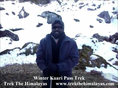 winter kuari pass trek review trek the himalayas venkat