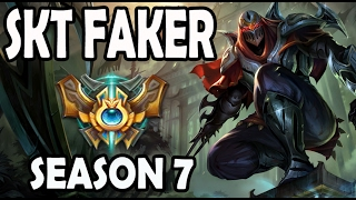 SKT T1 FAKER plays ZED vs A Korean LEBLANC Ranked Master