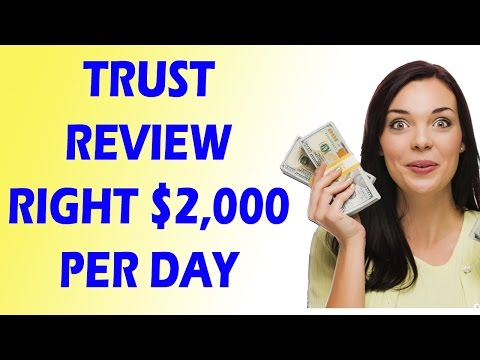 How To Make Money Online Fast - Trust Review All System Earn $2,000 Per Day