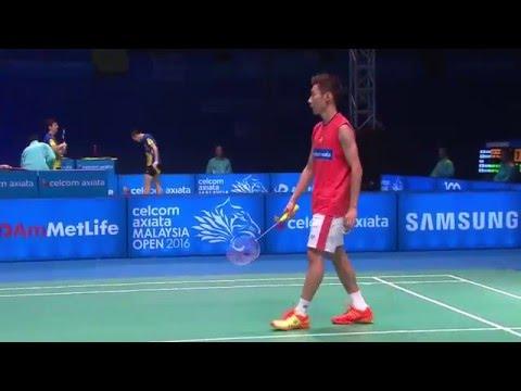 Celcom Axiata Malaysia Open 2016   Badminton SF M5-MS   Jan O Jorgensen vs Lee Chong Wei